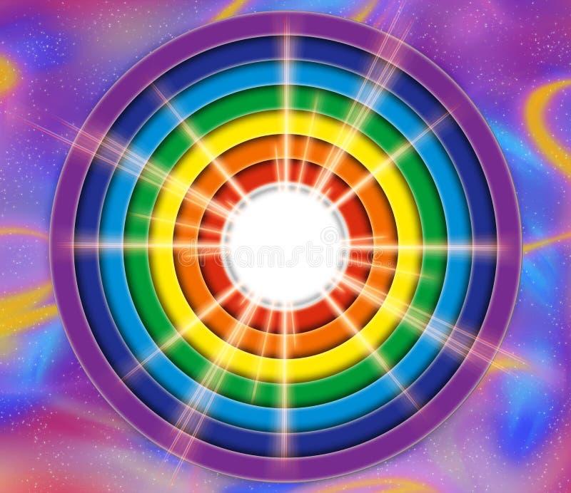 luz de la potencia y de la paz stock de ilustración
