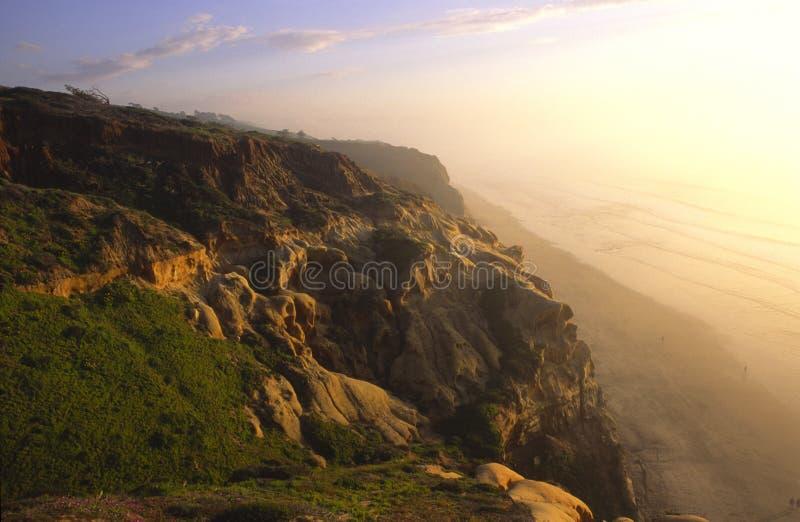 Luz de la tarde en la Costa del Pacífico en San Diego imagen de archivo libre de regalías