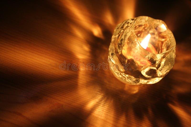 Luz de la vela foto de archivo