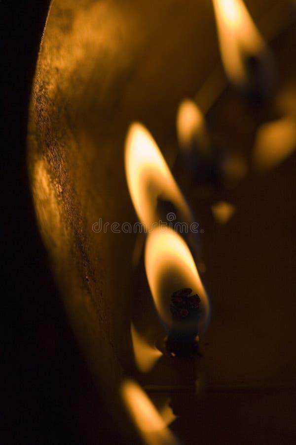 Luz de la vela en Lhasa foto de archivo libre de regalías