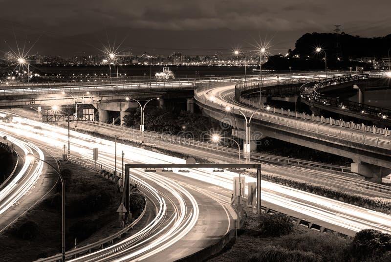 Luz de los coches foto de archivo
