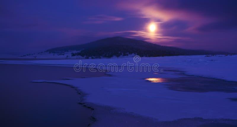 Luz de lua imagem de stock