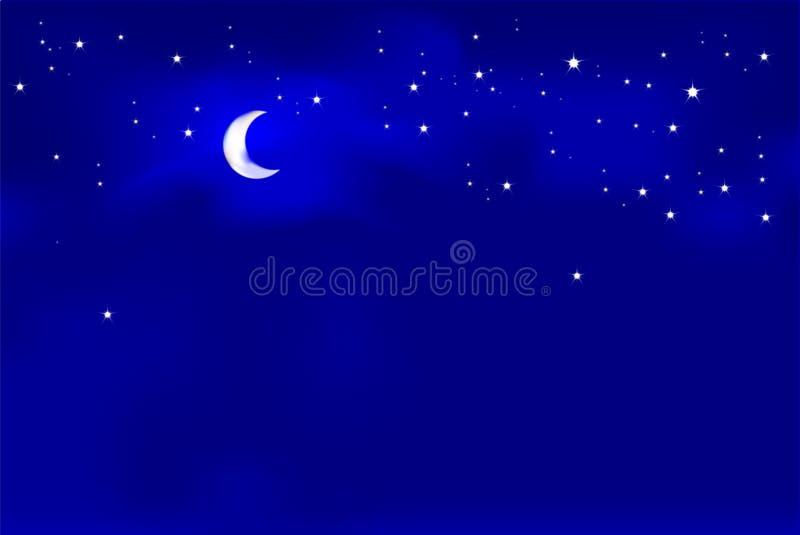 Luz de lua ilustração royalty free