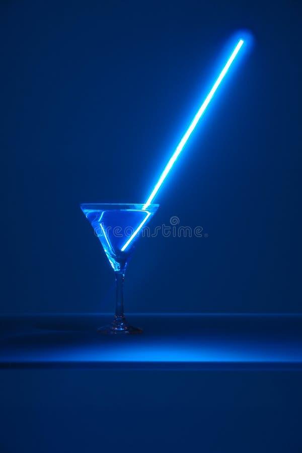 Luz de néon no vidro imagem de stock