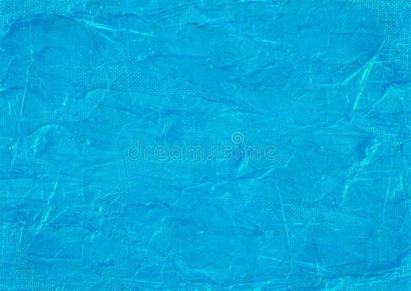 Luz de néon rachada - papel de parede de pintura do fundo do inverno do teste padrão da textura da lona velha azul do sumário de  fotos de stock