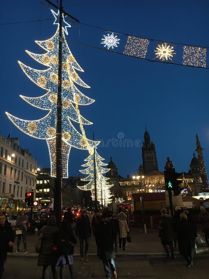 Luz de Natal fotografia de stock