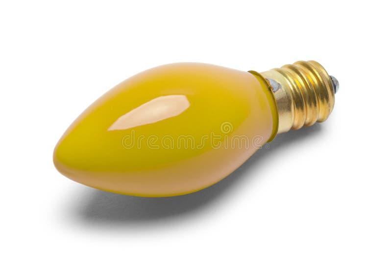 Luz de Natal amarela fotos de stock