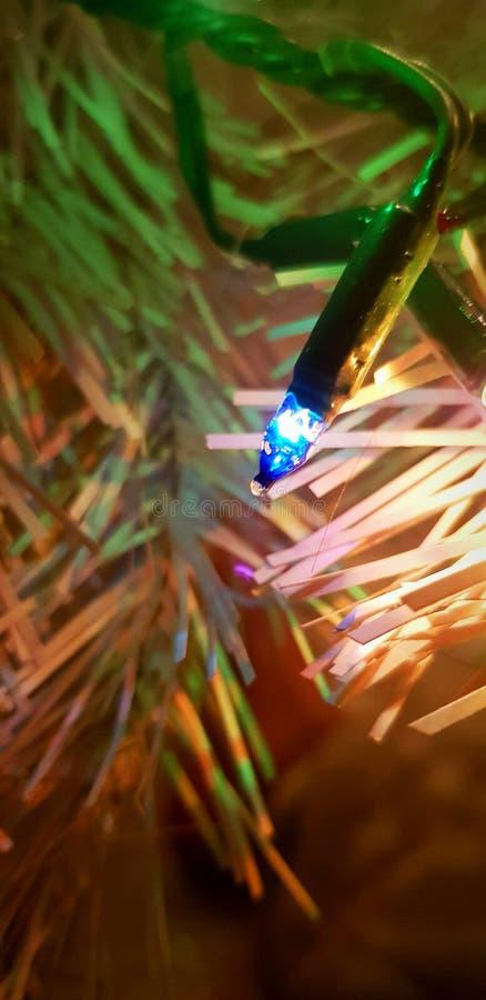 Luz de Natal - azul foto de stock