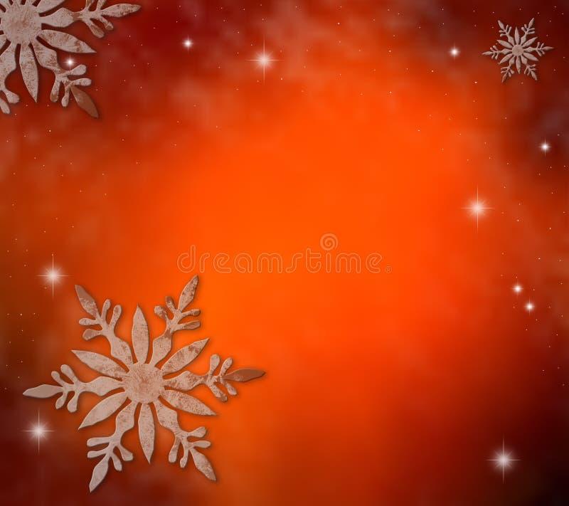 Luz de Natal com flocos de neve ilustração do vetor