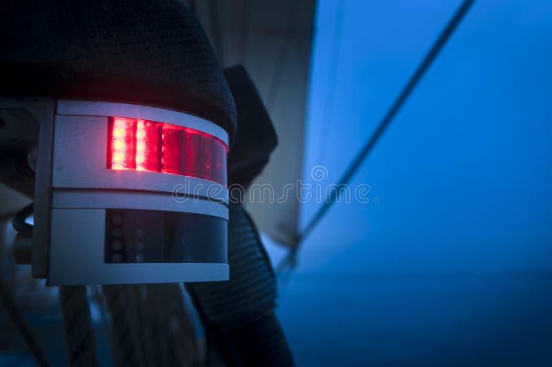 Luz de navegación roja foto de archivo