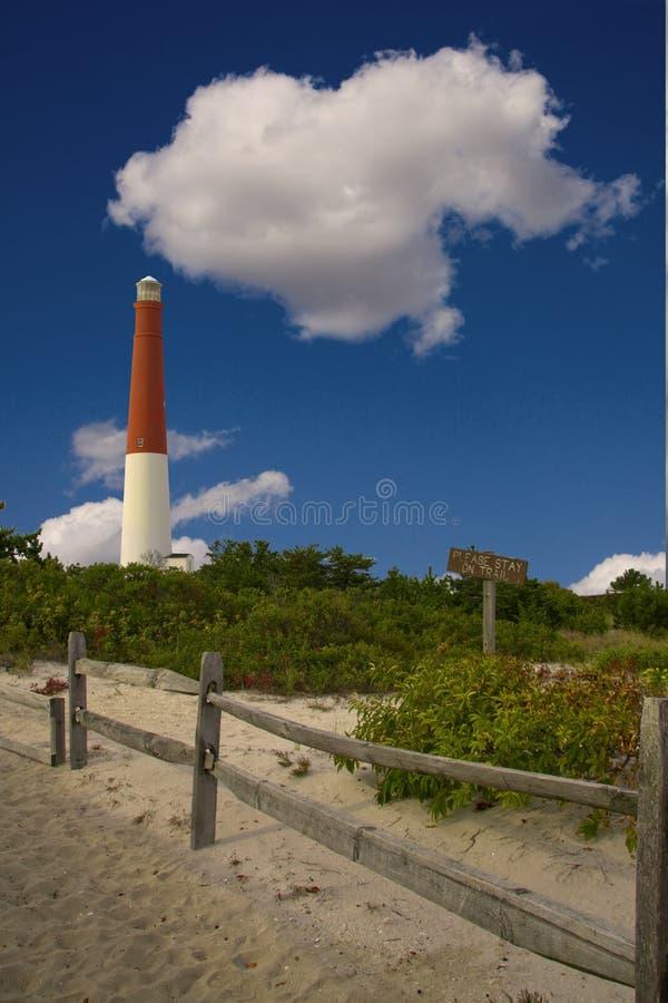 Luz de New-jersey da ilha de Long Beach fotografia de stock