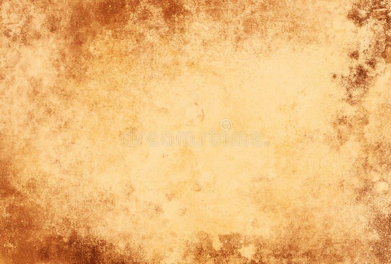 Luz de papel da textura do Grunge - quadro marrom ilustração do vetor