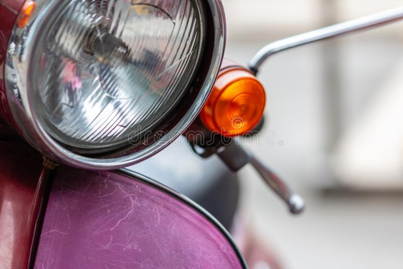 Luz de señal de vuelta de la vespa imagen de archivo libre de regalías