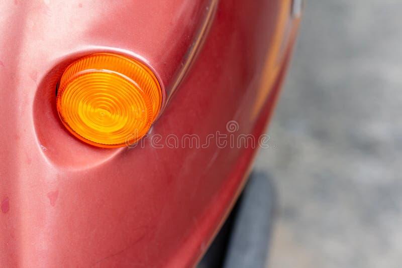 Luz de señal de vuelta de la vespa fotografía de archivo