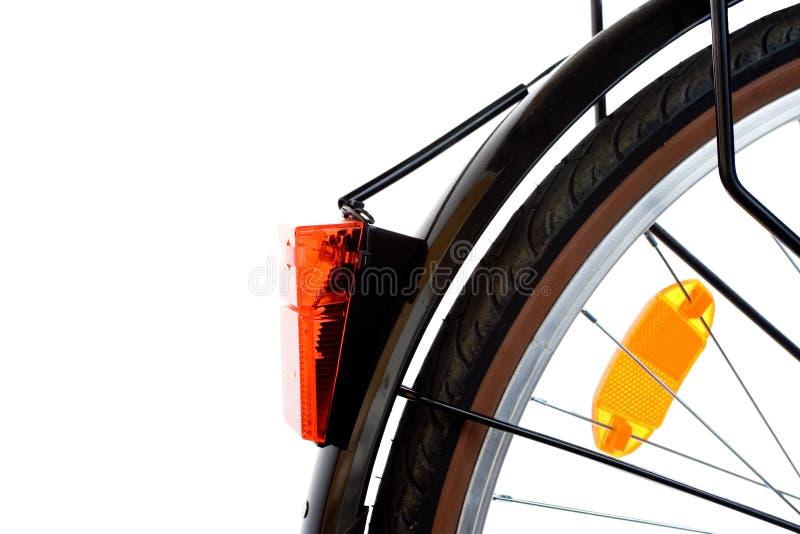 Luz de segurança vermelha das peças da bicicleta da cidade imagens de stock