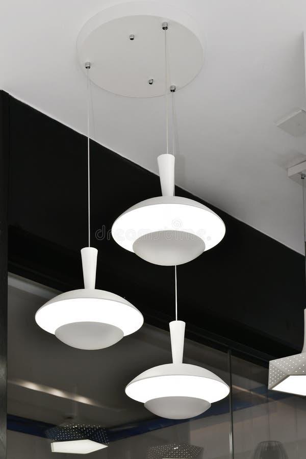 Luz de techo llevada blanca imagen de archivo libre de regalías
