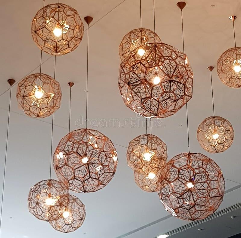 Luz de teto, estilo da geometria foto de stock royalty free