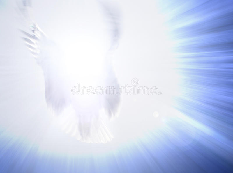 Luz del ángel que es fotos de archivo