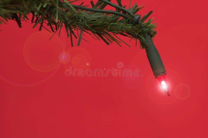 Luz del árbol de navidad imagen de archivo libre de regalías