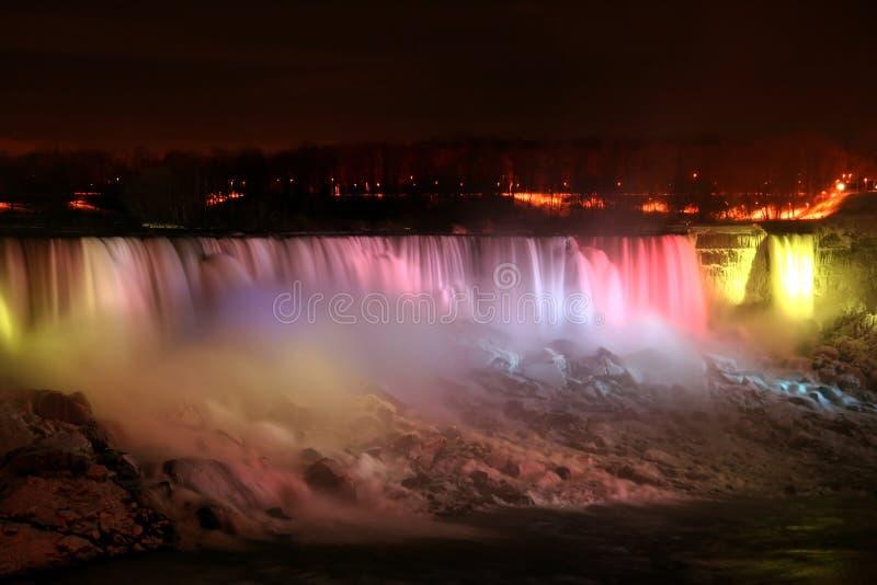 Luz del arco iris - Niagara Falls imágenes de archivo libres de regalías