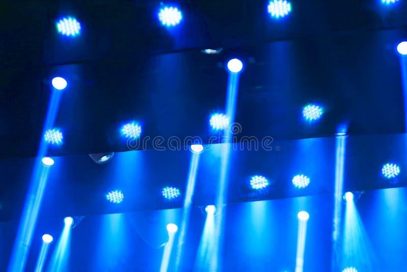 Luz del azul de la etapa fotografía de archivo
