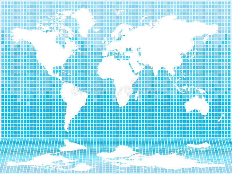 Luz del azulejo del mundo stock de ilustración