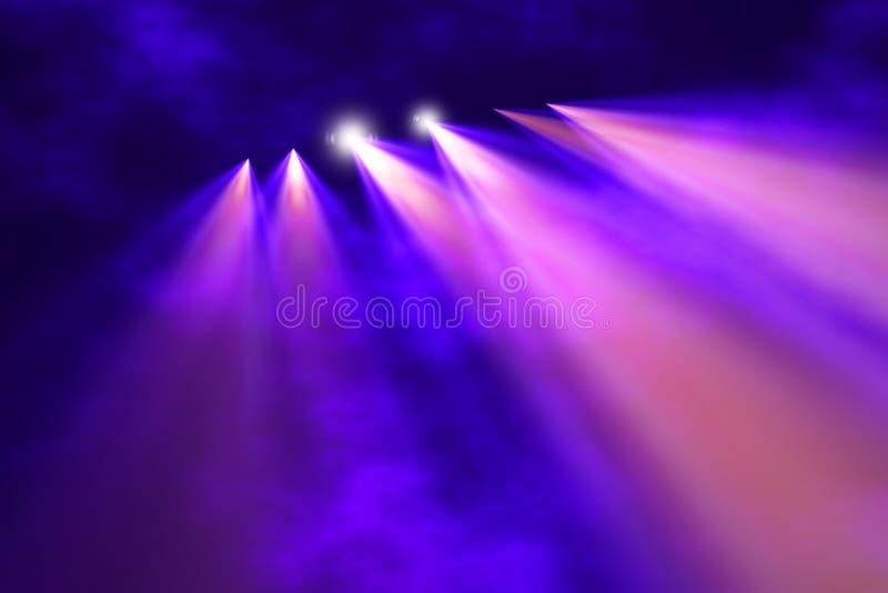 Luz del concierto ilustración del vector