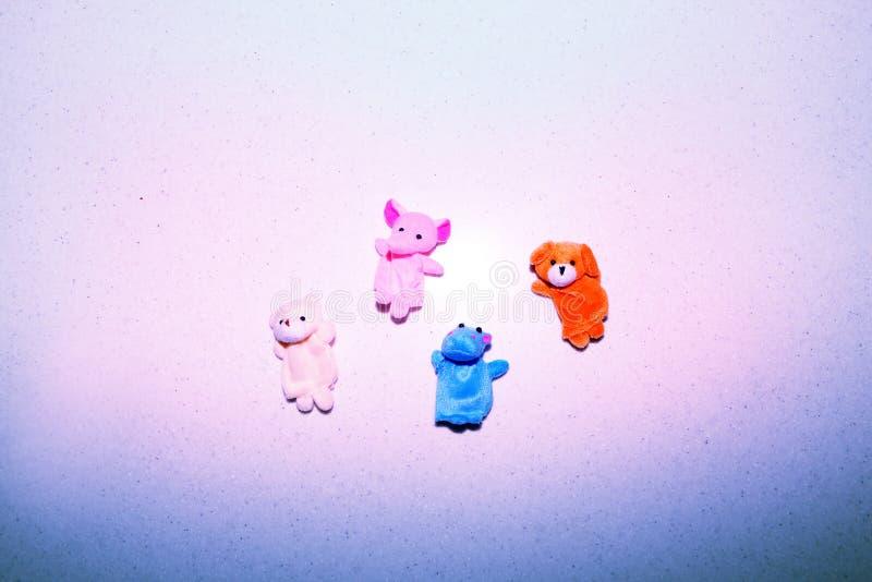 Luz del día de los animales del juguete del bebé del finger imágenes de archivo libres de regalías