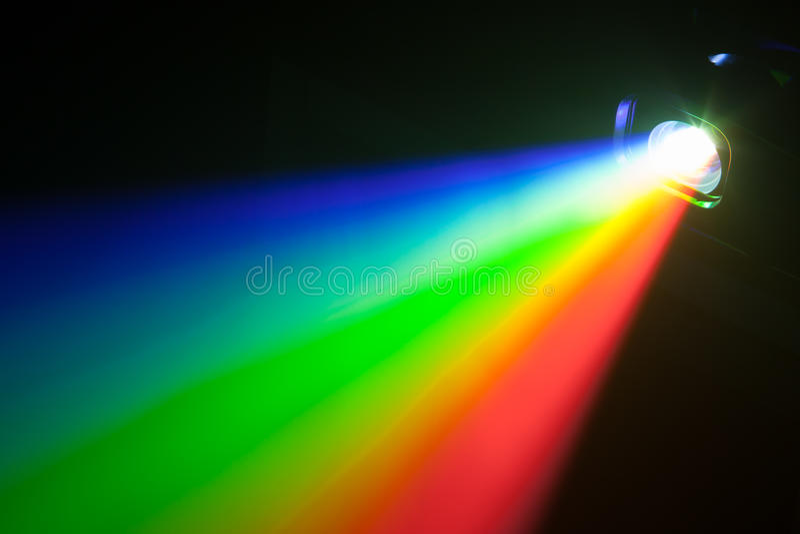 Luz del espectro del Rgb del proyector fotos de archivo