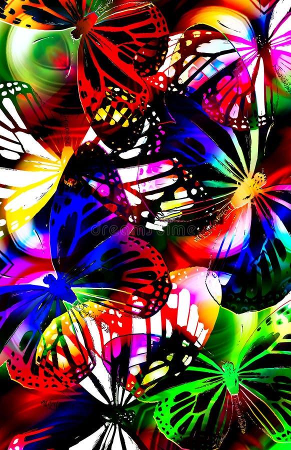 Luz del estroboscópico de la mariposa ilustración del vector