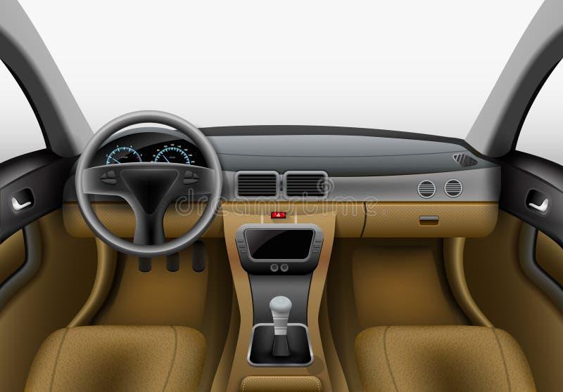 Luz del interior del coche stock de ilustración