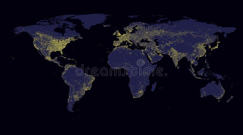 Luz del mundo del mapa libre illustration