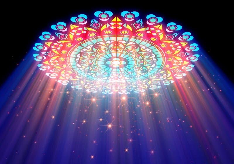 Luz del paraíso ilustración del vector