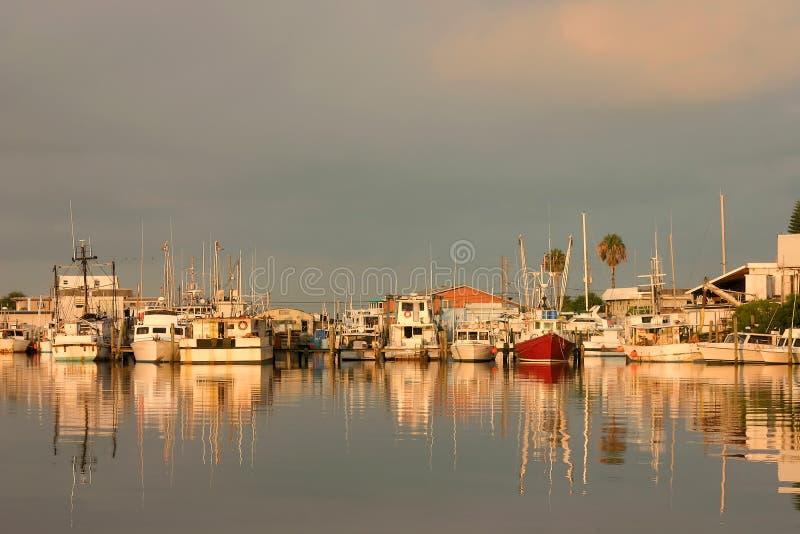 Luz del puerto foto de archivo