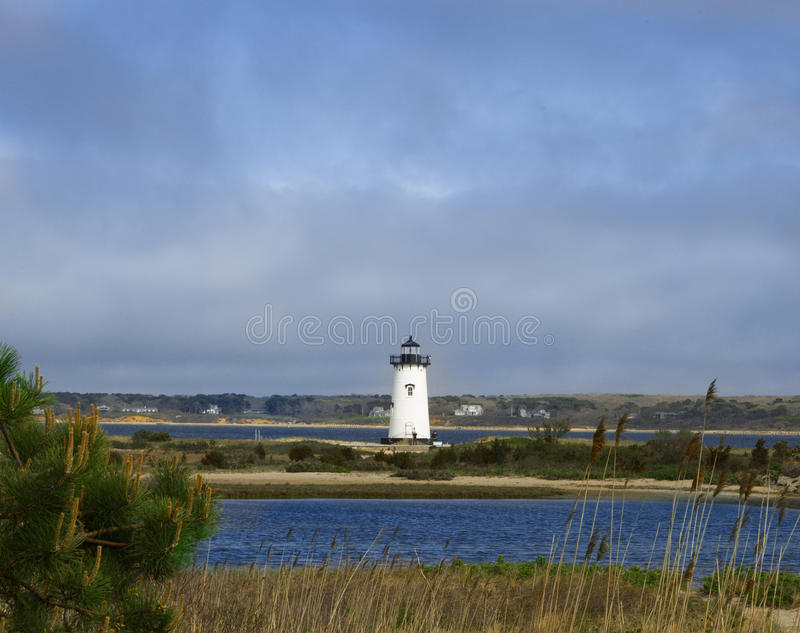 Luz del puerto de Edgartown, mA imágenes de archivo libres de regalías