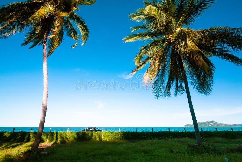 Luz del sol del día cerca la playa foto de archivo