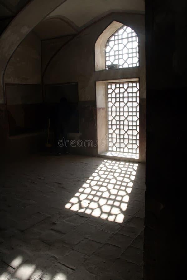 Luz del sol en ventana foto de archivo