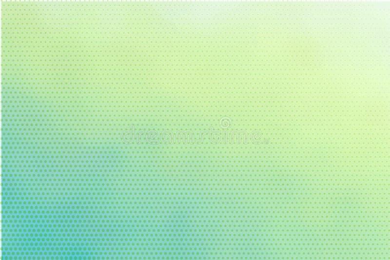 Luz delicada de turquesa - fundo pontilhado verde ilustração do vetor