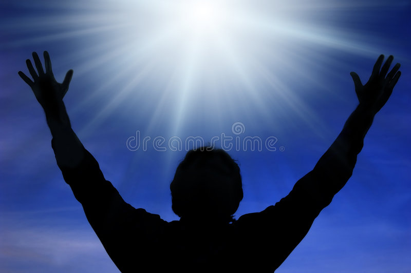 Luz divina foto de stock