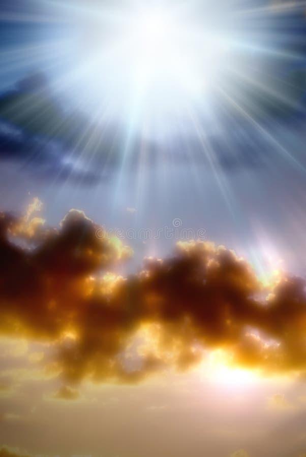 Luz divina foto de archivo