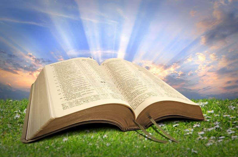 Luz divina do espiritual da Bíblia fotografia de stock