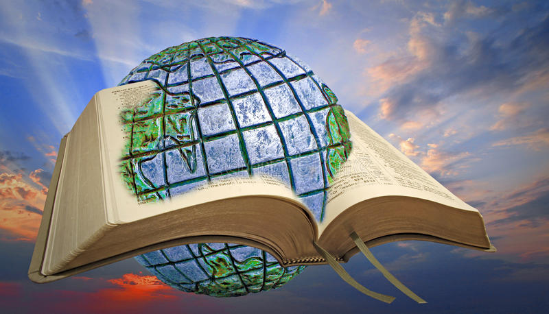 Luz divina do espiritual da Bíblia