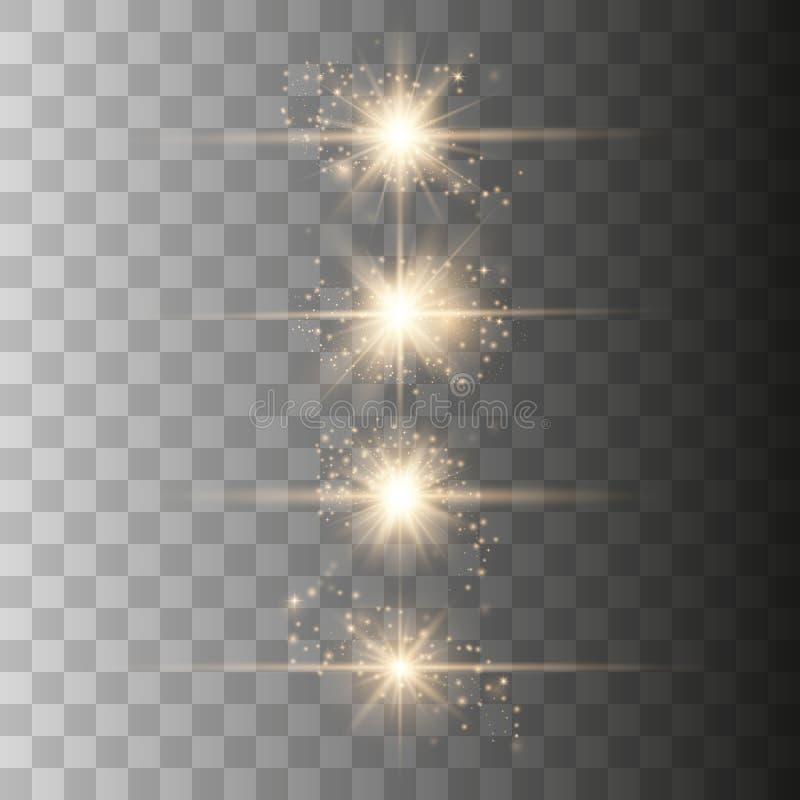 Luz do alargamento da lente ótica ilustração royalty free