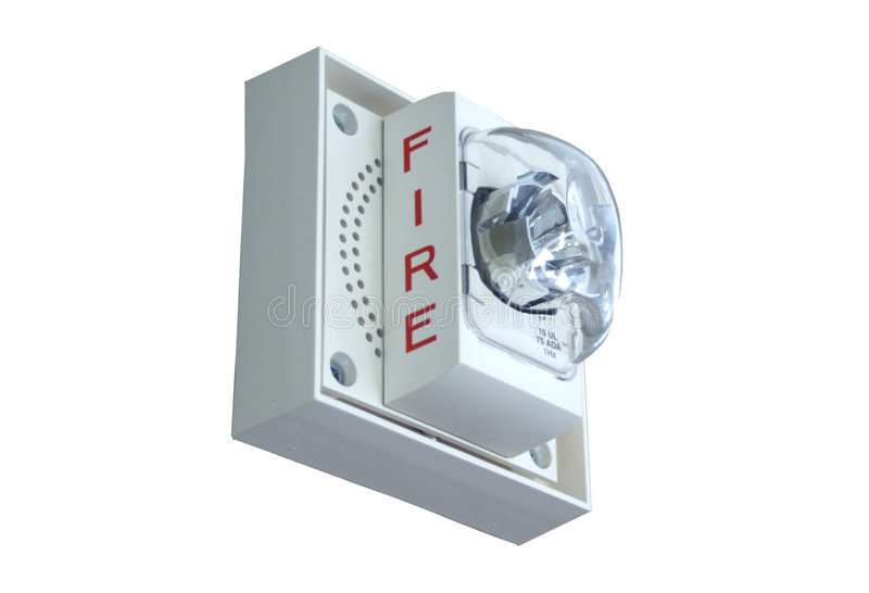 Luz do alarme de incêndio fotografia de stock royalty free