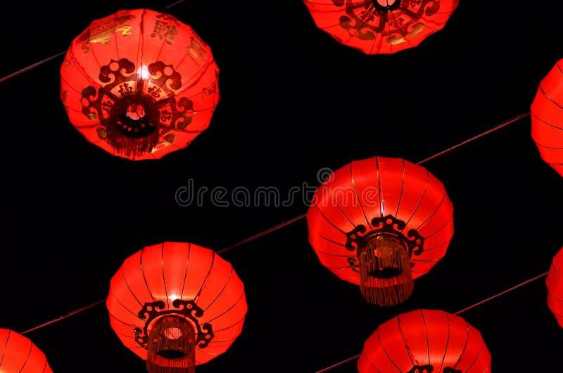 Luz do bairro chinês fotografia de stock royalty free