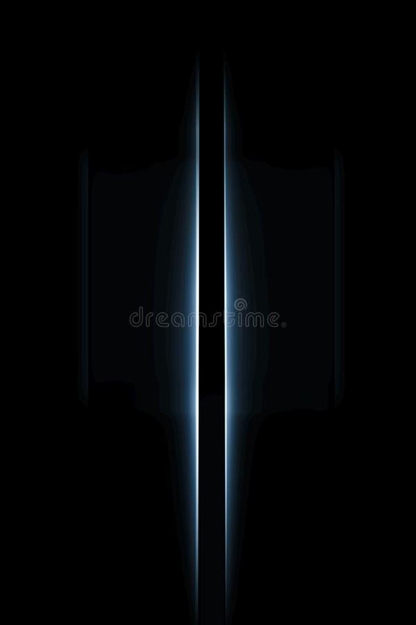 Luz do borrão de movimento vertical imagem de stock royalty free