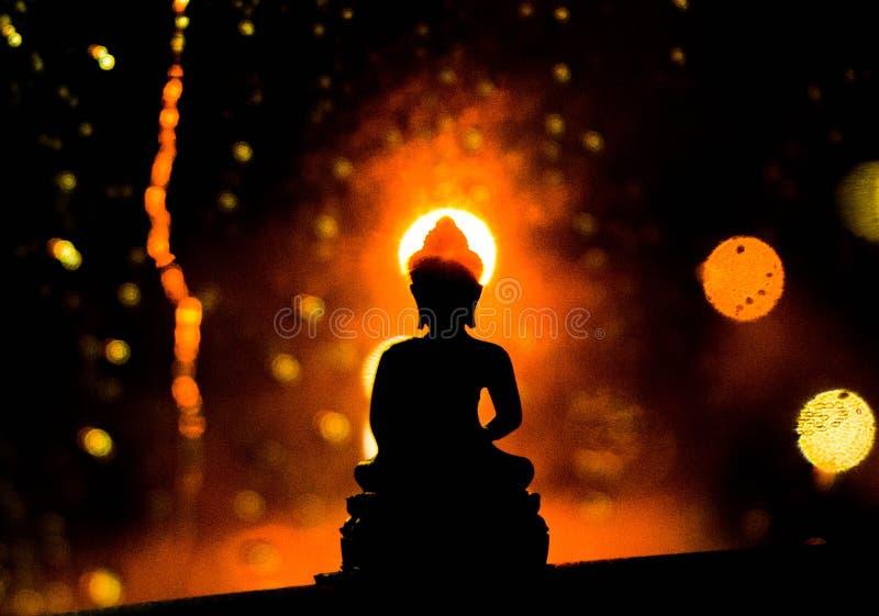 Luz do buddhism fotos de stock