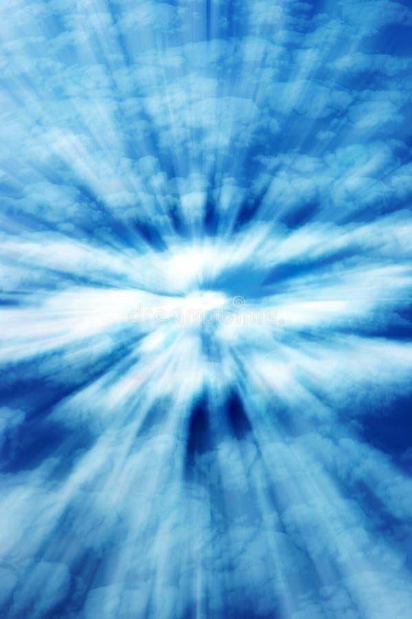 Luz do céu ilustração stock