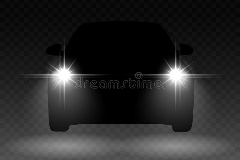 Luz do carro ilustração royalty free