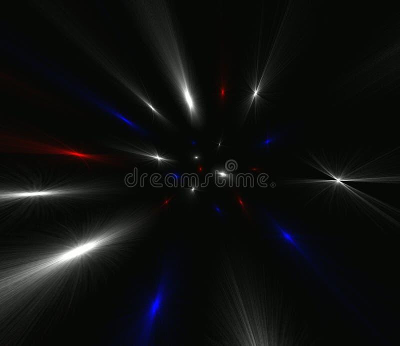 Luz do espaço ilustração royalty free